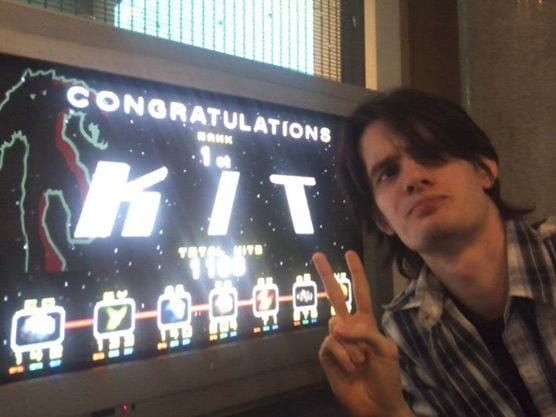Here I am with Lylat Wars at a Retro Game con in my hometown, years ago!  Top score!  ... I've had my hair cut.