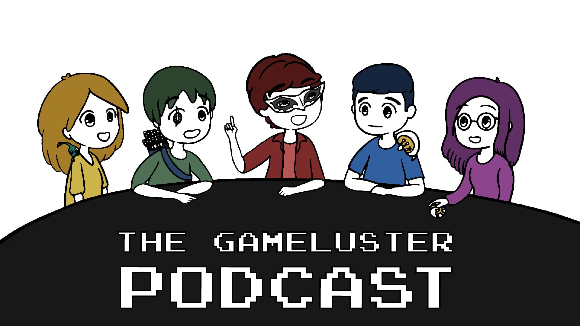 The GameLuster Podcast art by Christine McGahhey featured image